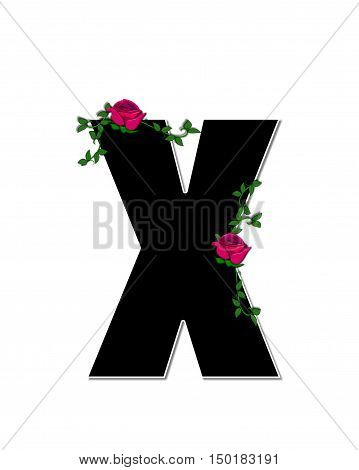 Alphabet Rose Trellis X