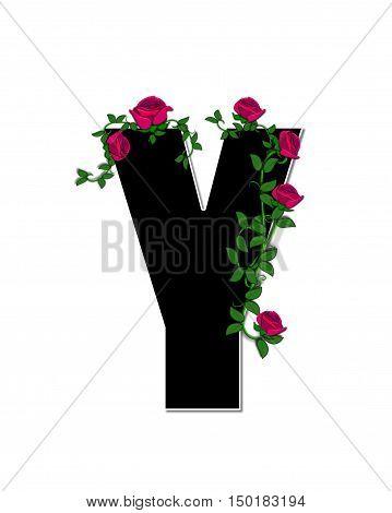 Alphabet Rose Trellis Y
