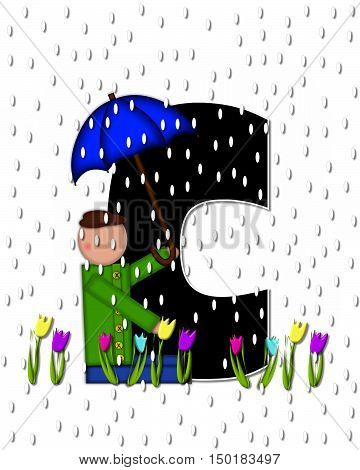 Alphabet Children April Showers C