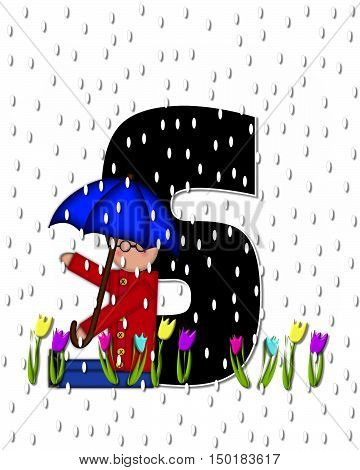 Alphabet Children April Showers S