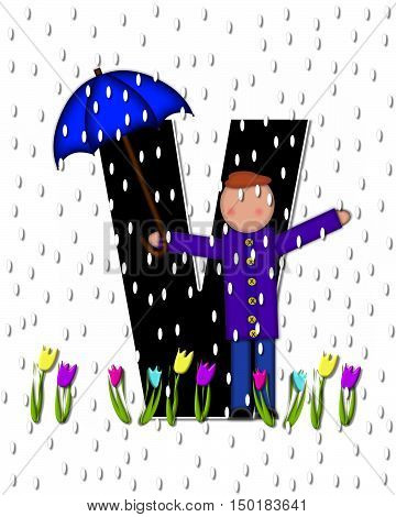 Alphabet Children April Showers V