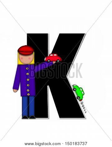 Alphabet Children Automobiles K