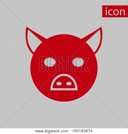 pig icon stock vector illustration flat design