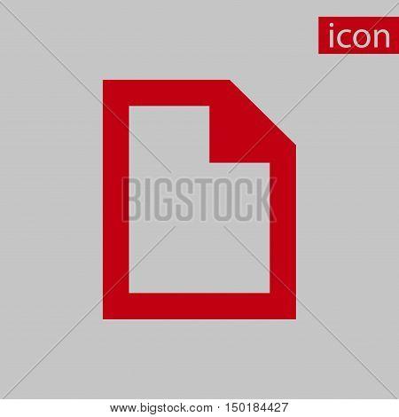 file icon stock vector illustration flat design