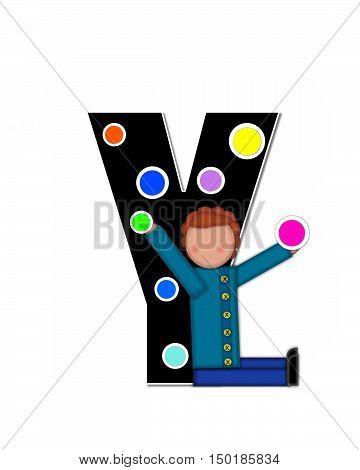 Alphabet Children Decorating Letters Y