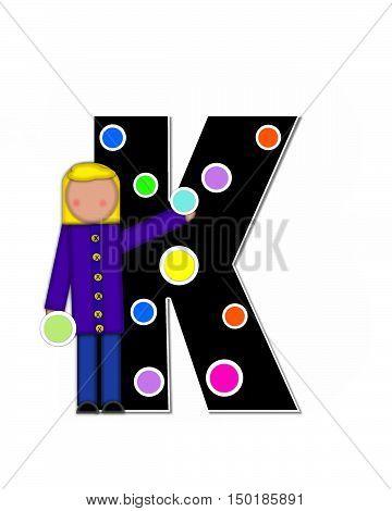 Alphabet Children Decorating Letters K