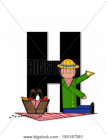 Alphabet Children Picnic H