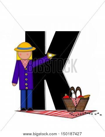 Alphabet Children Picnic K