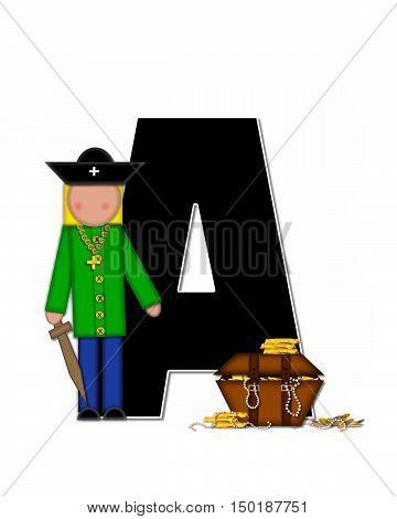 Alphabet Children Pirates A