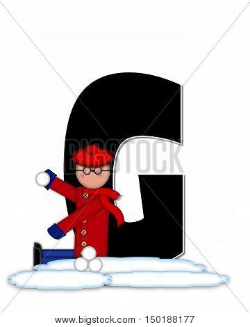 Alphabet Children Snow Fight G