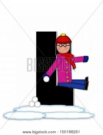 Alphabet Children Snow Fight L