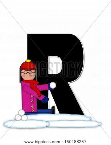 Alphabet Children Snow Fight R