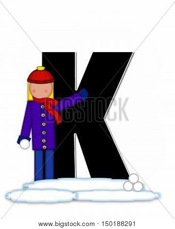 Alphabet Children Snow Fight K