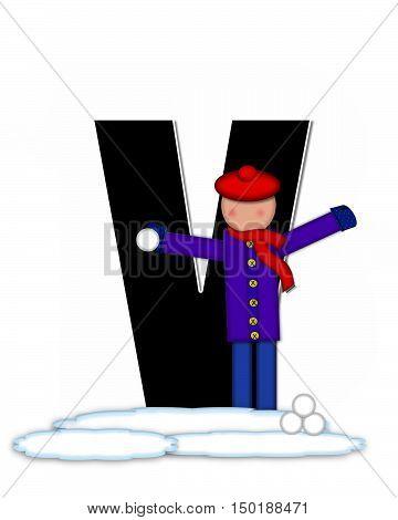 Alphabet Children Snow Fight V