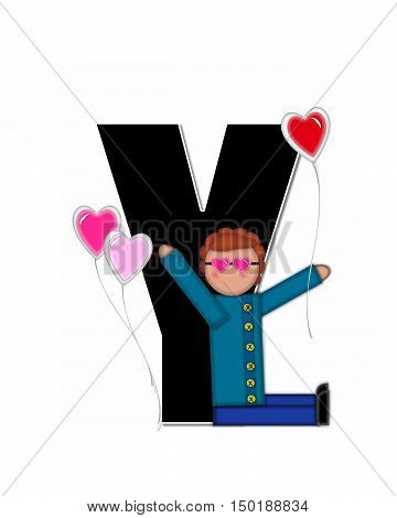 Alphabet Children Valentines Y