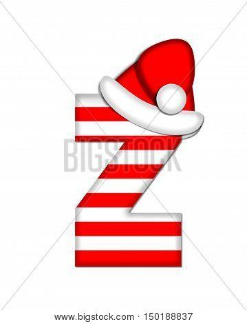Alphabet Christmas Candy Cane Z
