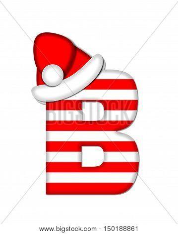 Alphabet Christmas Candy Cane B