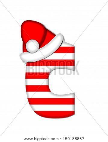 Alphabet Christmas Candy Cane C