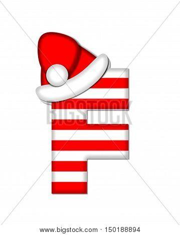Alphabet Christmas Candy Cane F