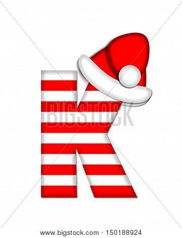 Alphabet Christmas Candy Cane K