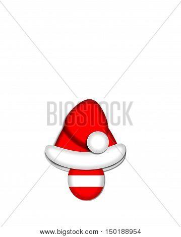 Alphabet Christmas Candy Cane Period