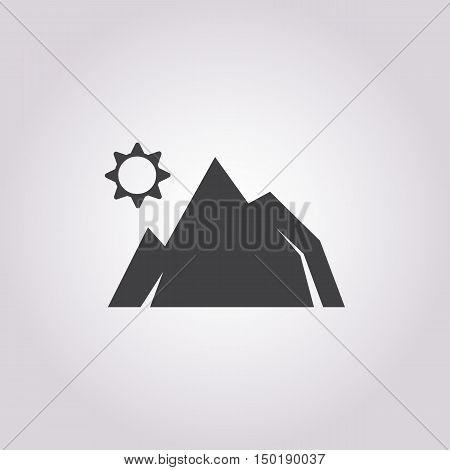 mountain icon on white background for web