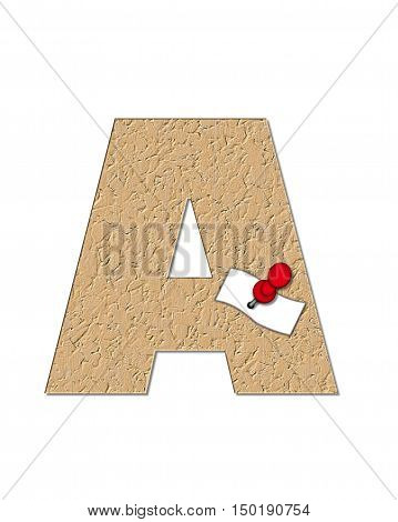 Alphabet Cork Board A