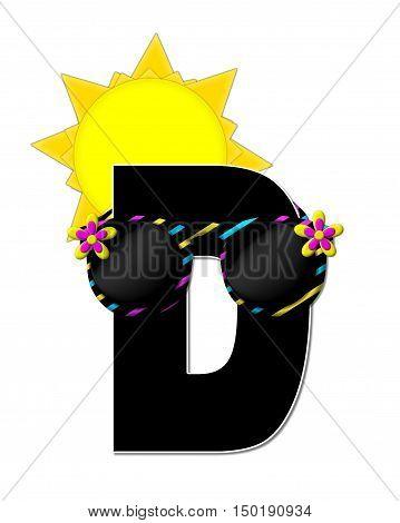 Alphabet Sun Shades D