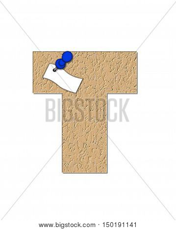 Alphabet Cork Board T