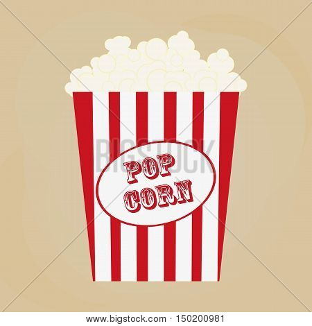 Spilled popcorn on a brow background cinema movies and entertainment concept