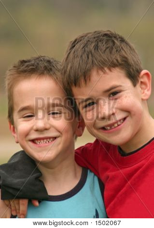 Brothers Smiling