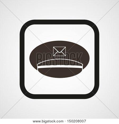 Postman cap Icon Flat Simple Vector illustration