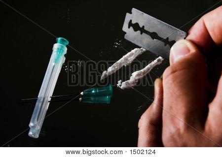 Heroin Or Cocaine Drug Line