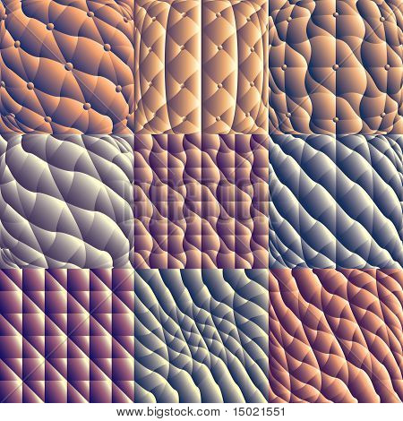 Leather upholstery seamless patterns.