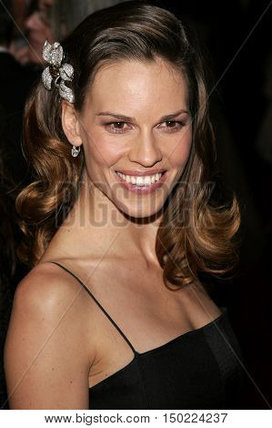 Hilary Swank at the Paramount Pictures 2007 Golden Globe Award After-Party held at the Beverly Hilton Hotel in Beverly Hills, USA on January 15, 2007.