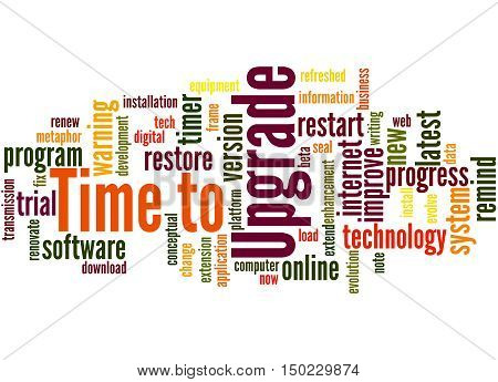 Time To Upgrade, Word Cloud Concept 2