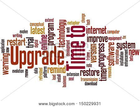Time To Upgrade, Word Cloud Concept 4