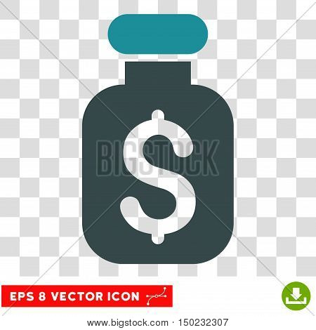 Business Remedy vector icon. Image style is a flat soft blue pictograph symbol.