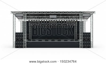 Podium Concert Stage Isolated 3D Rendering.