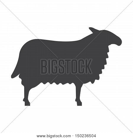 ram black simple icon on white background for web design
