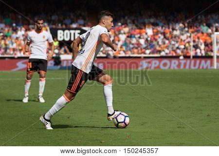 VALENCIA, SPAIN - OCTUBER 2nd: Munir during Spanish soccer league match between Valencia CF and Atletico de Madrid at Mestalla Stadium on Octuber 2, 2016 in Valencia, Spain