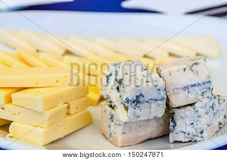 Slices Of Asturian Cheese