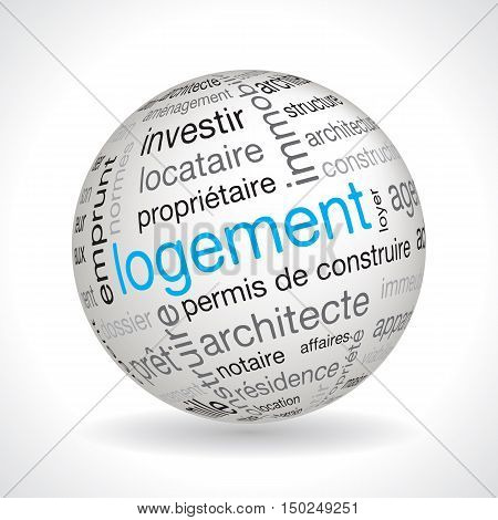 French Housing Theme Sphere Vector