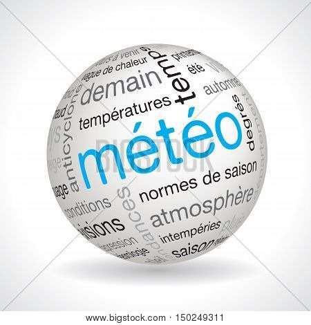 French Weather Forecast Theme Sphere