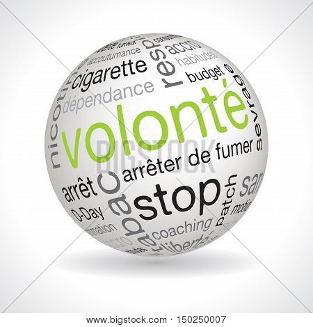 French will theme sphere vector with keywords