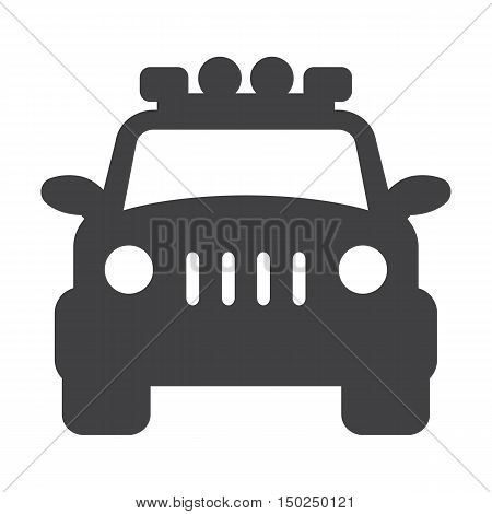 jeep black simple icon on white background for web design