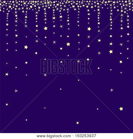Stardust and star rain vector seamless vector. Falling stars vector illustration.