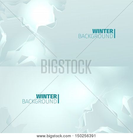 Abstract horizontal winter backround with snow blockage