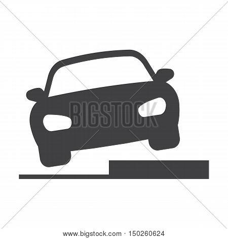 Hurdle car black simple icons set for web design