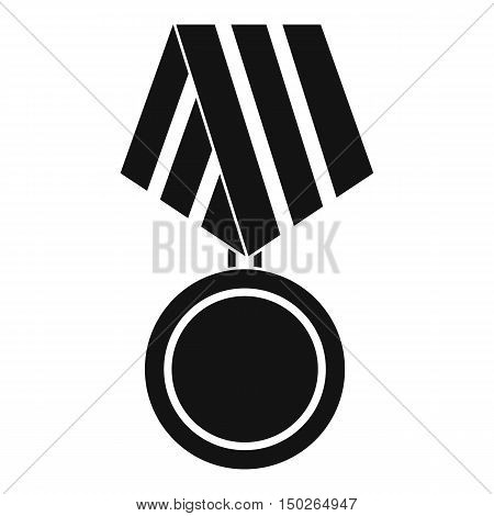 Military medal icon in simple style isolated on white background vector illustration